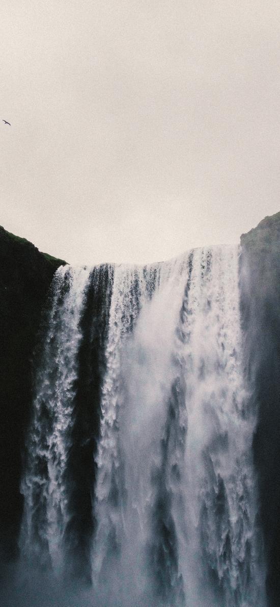 自然 瀑布 流水 壮观