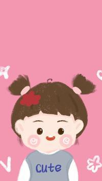可爱 卡通 cute 女孩