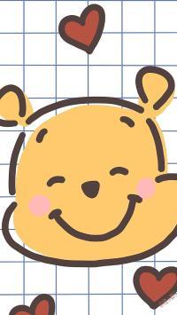 可爱 维尼熊 爱心 动画
