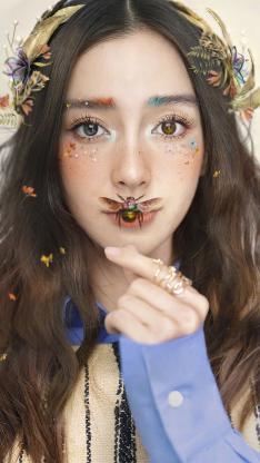 Angelababy 杨颖 模特 演员 明星 艺人 昆虫