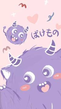 可爱 小怪兽 爱心 卡通