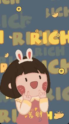 发财 女孩 rich 金钱