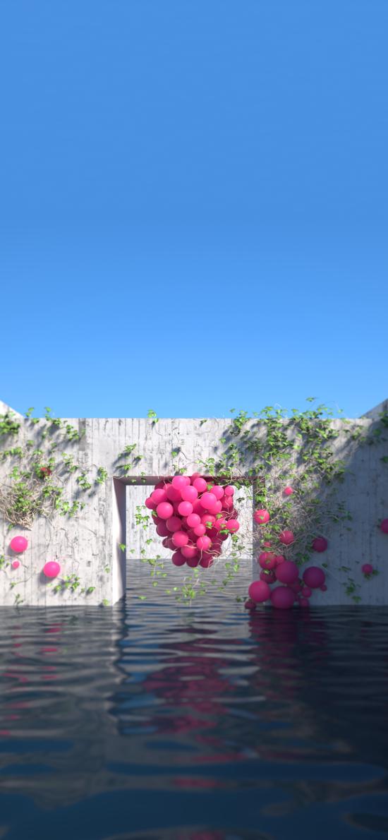 池水 球体 设计 中心元素 (取自站酷网:吟月堂阿毛)