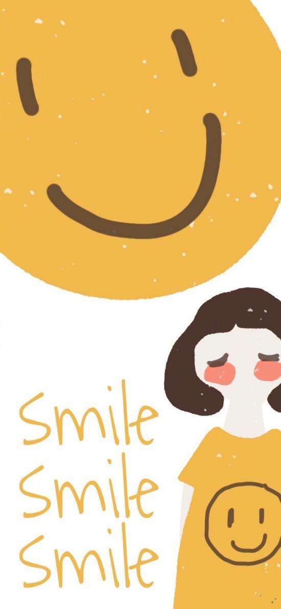 笑脸 smile 黄 女孩
