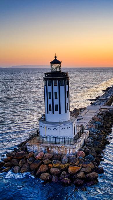 海岸 建筑 灯塔 信号塔