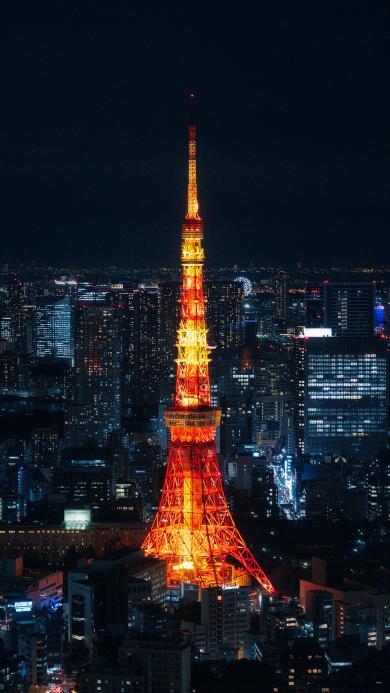 建筑 巴黎铁塔 城市 夜景