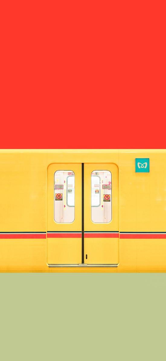 地铁 色彩 鲜艳 交通 门