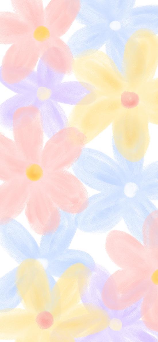 彩绘 色彩 渐变 花朵