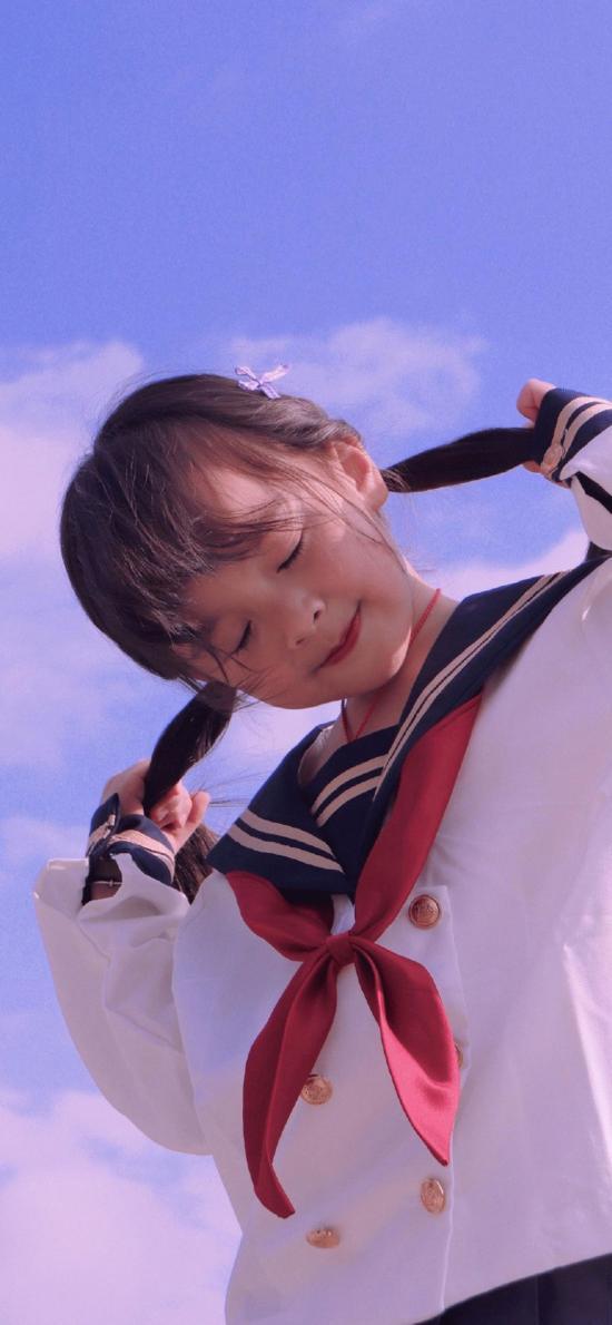 萌娃 水手服 小女孩 可爱