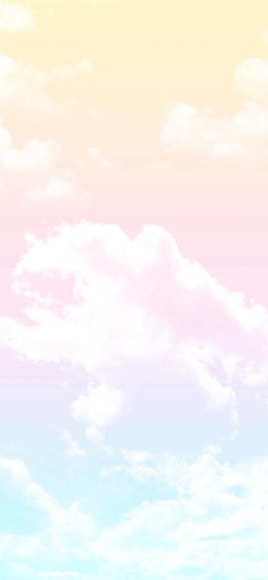 云彩 色彩 渐变 云朵