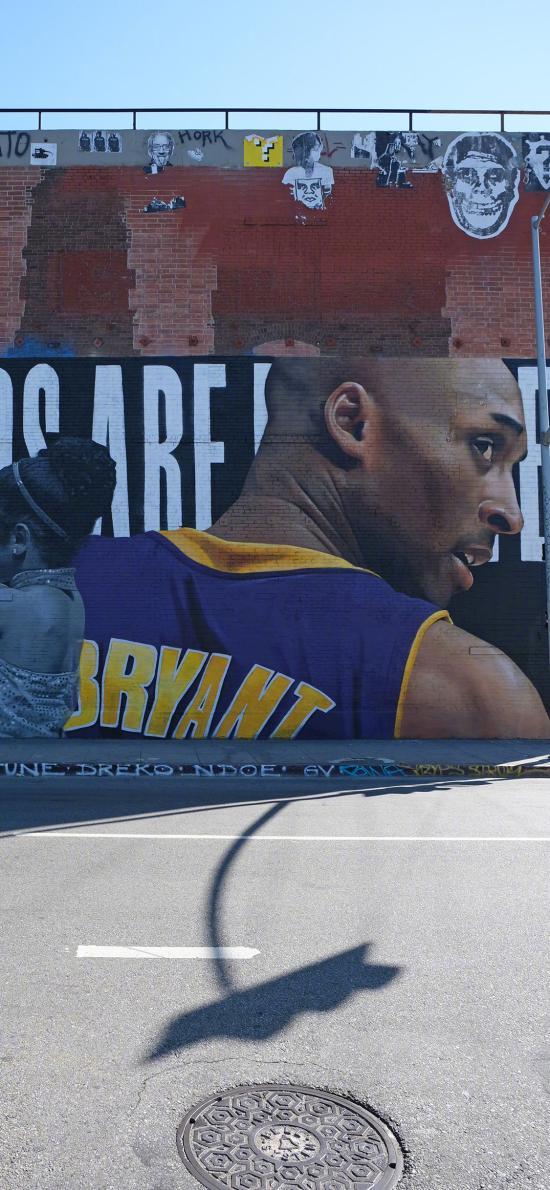 科比 涂鸦 街头 篮球运动员