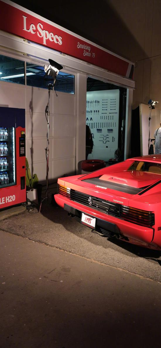 法拉利 超级跑车 炫酷 豪车 夜晚