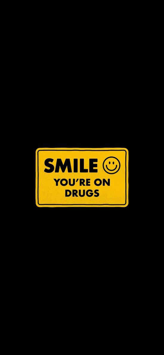 微笑 你中毒了 黑色 笑脸 表情