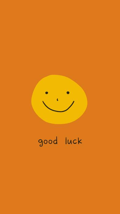 好运 good luck 表情 笑脸 黄色