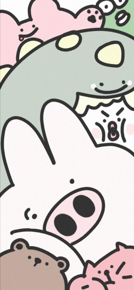卡通 猪猪 萌物 平铺 可爱(取自微博:_magua)