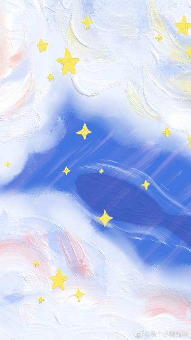 彩绘 星空 云彩 云朵