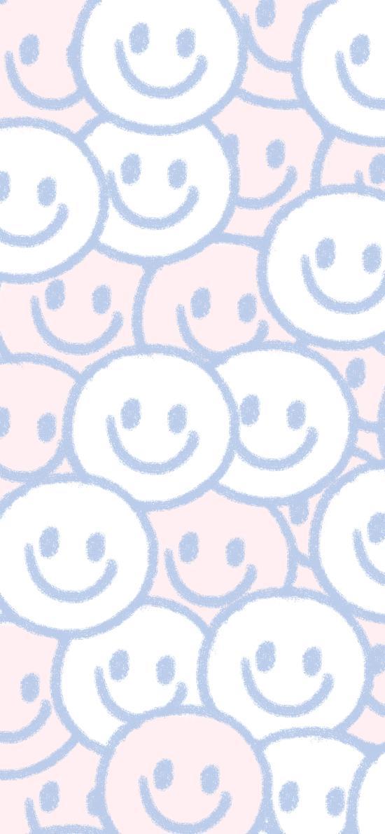 平铺 笑脸 表情 密集