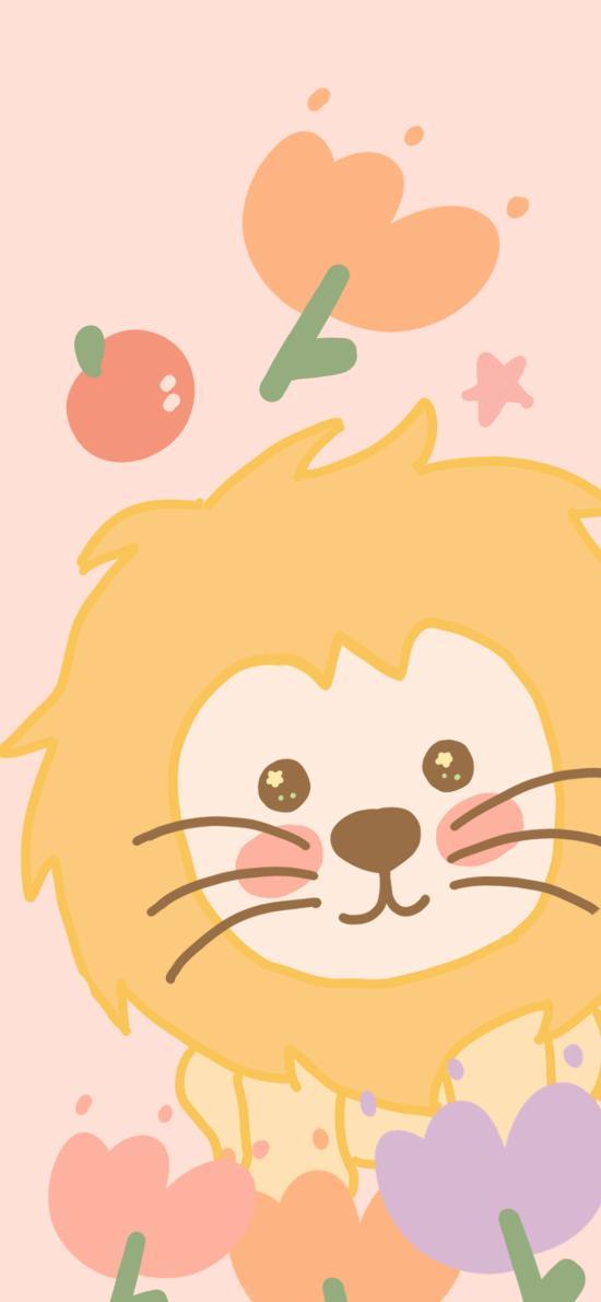 卡通 可爱 小狮子 色彩