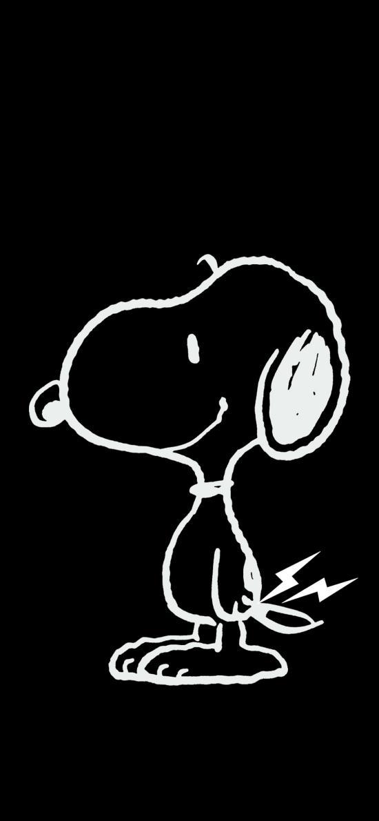 黑白 史努比 卡通