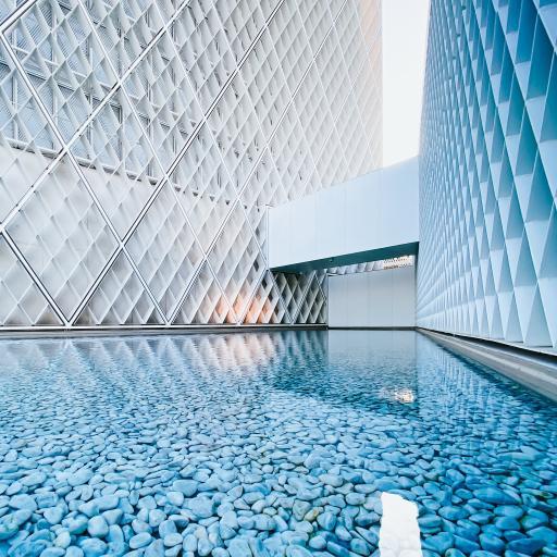 建筑 设计 水池 鹅卵石