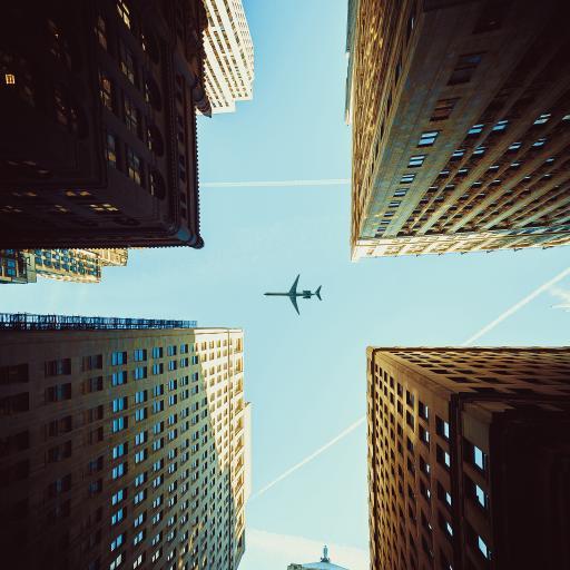 飞机 飞行 航空 建筑 城市