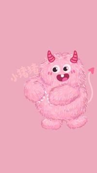 小怪兽 粉 小猪猪