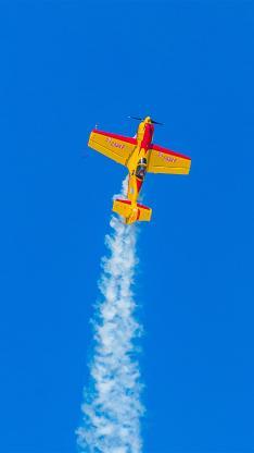 演习 战斗机 喷雾式 蓝天