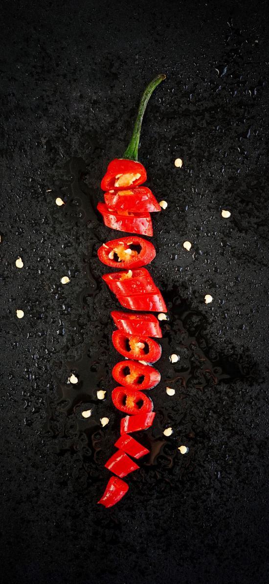 辣椒 食材 蔬菜 切段