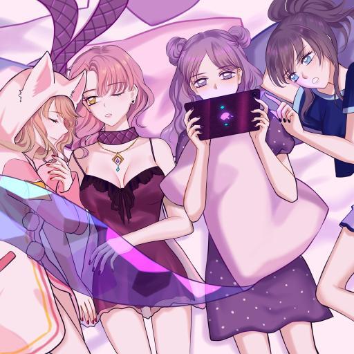 KDA 女团 原画 英雄联盟 紫色 少女