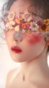 女孩 迷幻 唯美 遮眼