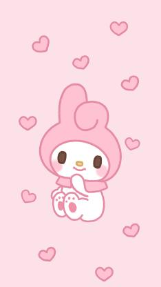 美乐蒂 粉色 卡通 可爱 Melody 爱心