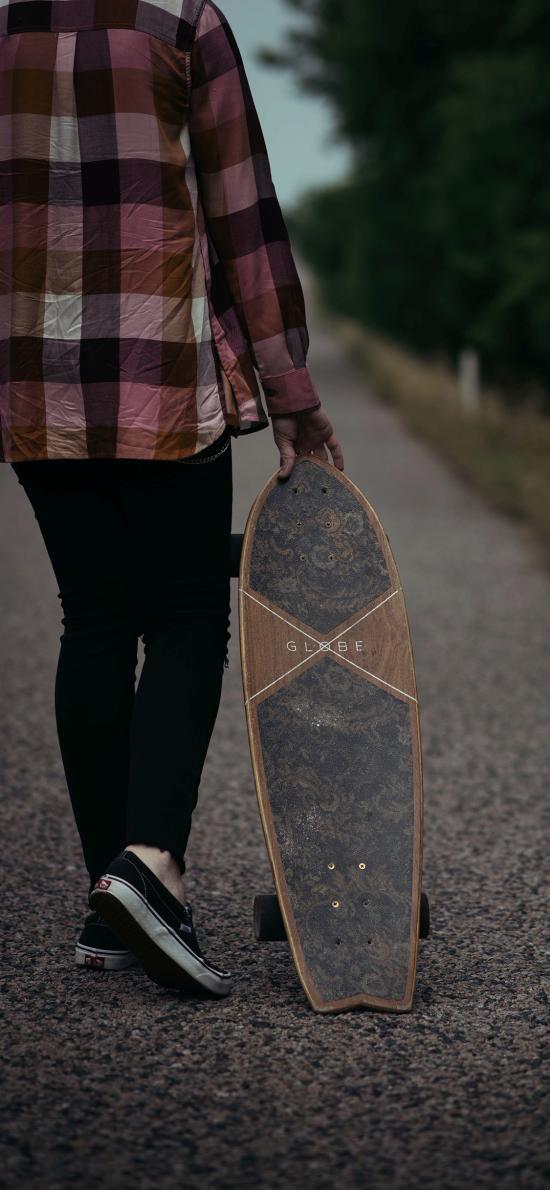滑板 运动 背影 户外