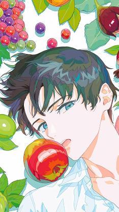 男子 二次元 水果 葡萄 苹果