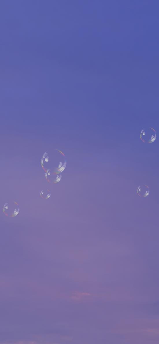 泡泡 漂浮 气泡  紫色