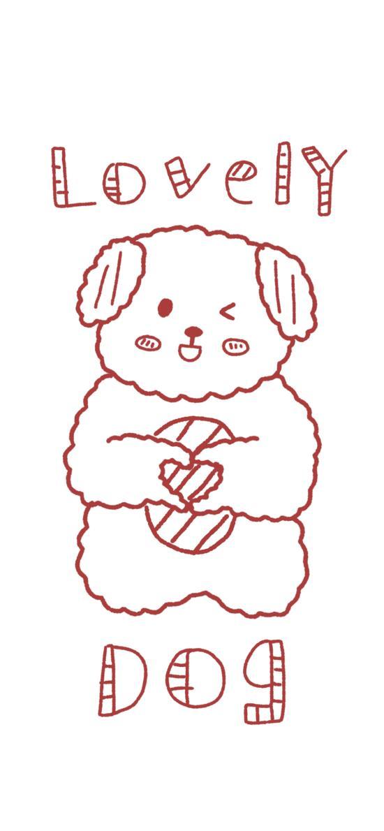 简笔 狗狗 lovely dog