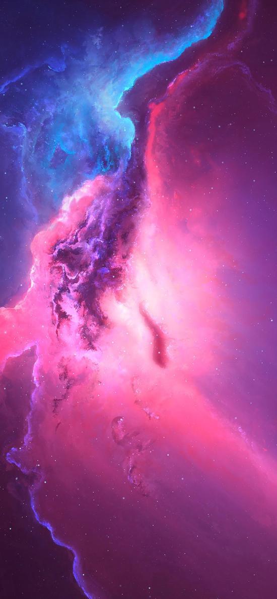 宇宙 太空 紫色 星云 神秘