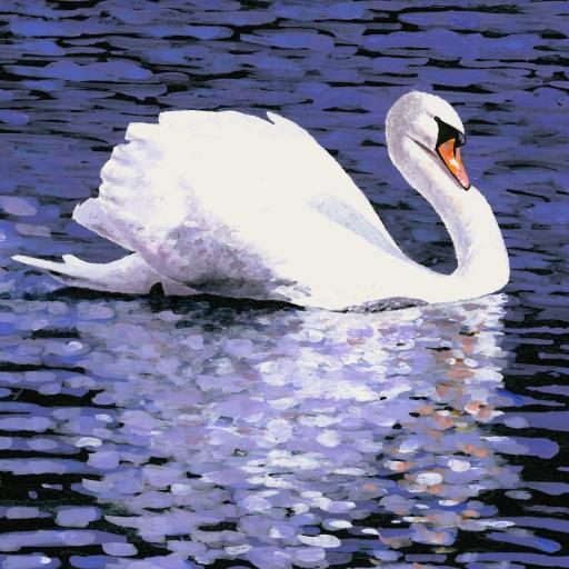 天鹅 翅膀 白色 美丽 湖水