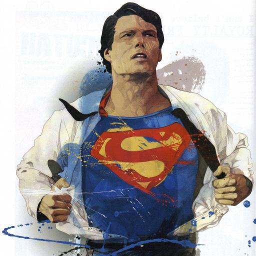 超人 肖像画 彩色