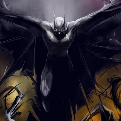 超级英雄 黑暗 翅膀 黑色