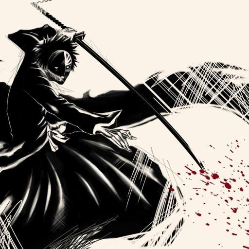 死神 日本动漫 卡通 剑 黑色
