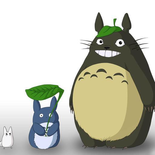 龙猫 萌 可爱 宫崎骏 卡通 彩色