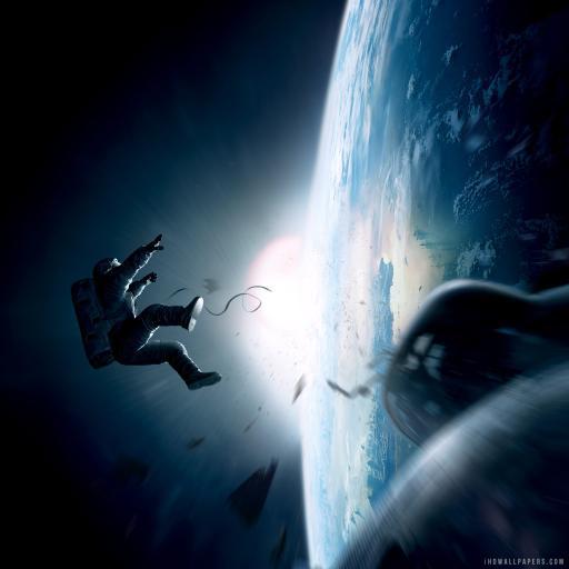 地心引力 太空 地图 剧照 蓝色