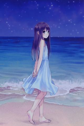 动漫 蓝色 女孩