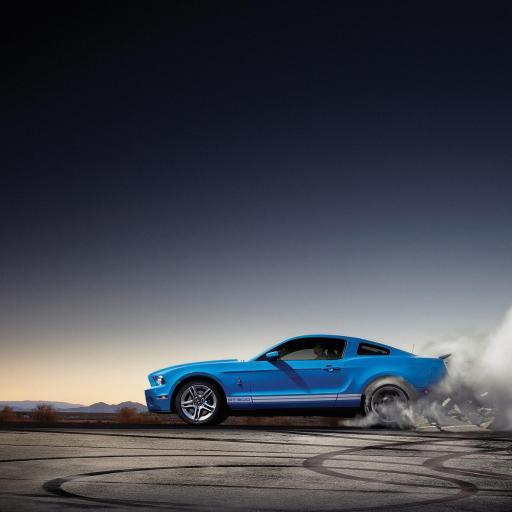 汽车 酷车 福特 野马 蓝色