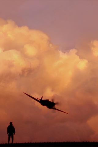 飞机 夕阳 军事