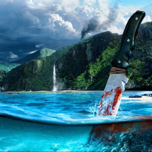 孤岛惊魂3 刀 血 海水 蓝色