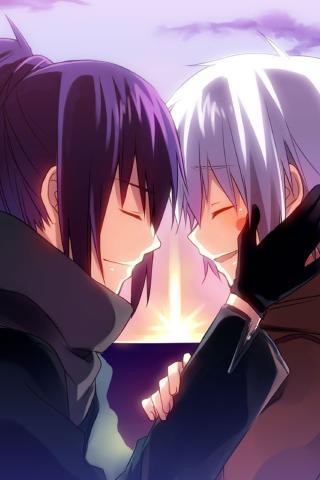 浪漫 温馨 情侣 卡通 动漫 爱情 天生一对 紫色
