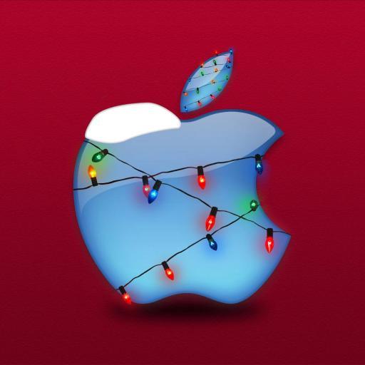 苹果 Apple logo 红色
