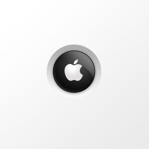 苹果 Apple logo 白色