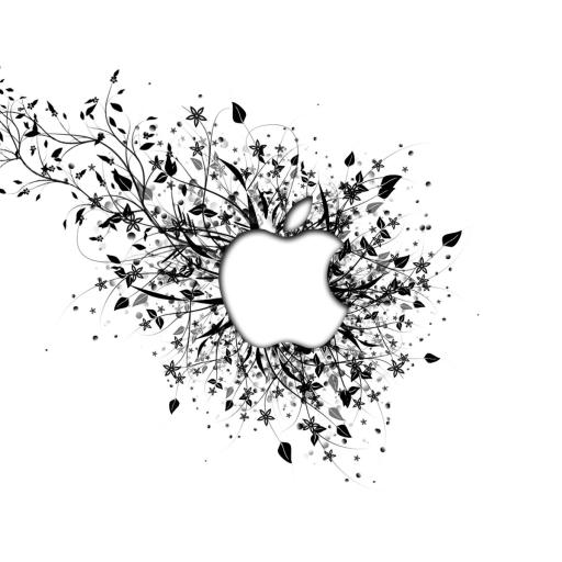 苹果 Apple logo 白色